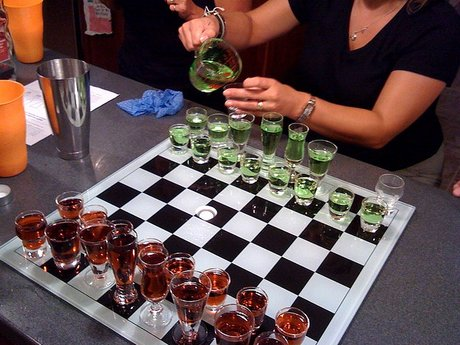 Turn board game into drinking game