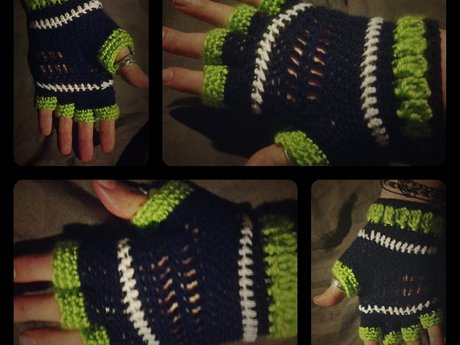 Crochet Lessons - Fingerless Gloves