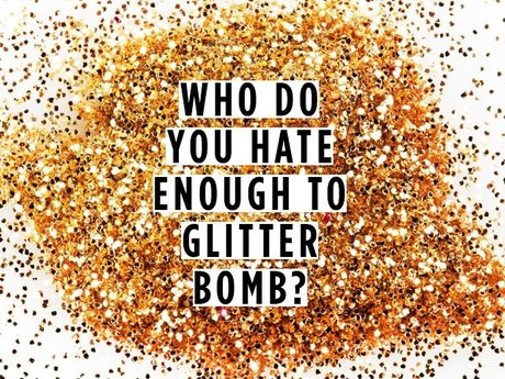 Anonymously mail a glitter bomb