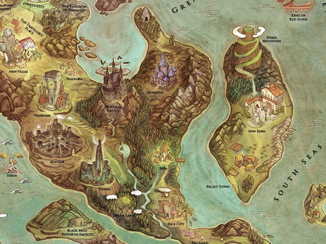 World map for your games
