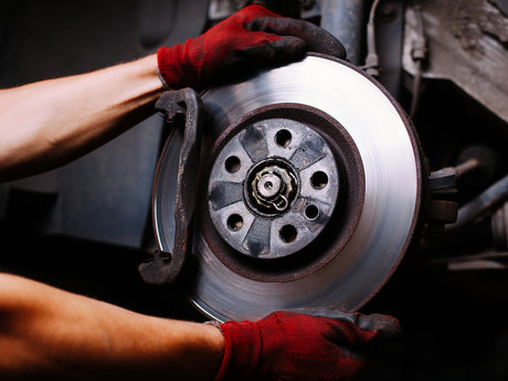 Service the brakes on your car
