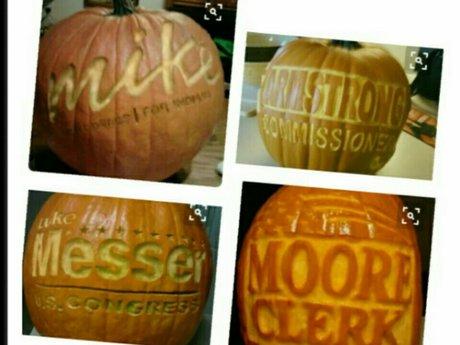 Company Logo Pumpkin Carving