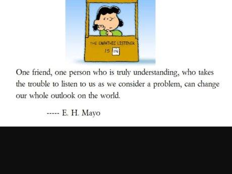 Empathetic Listener and Advisor