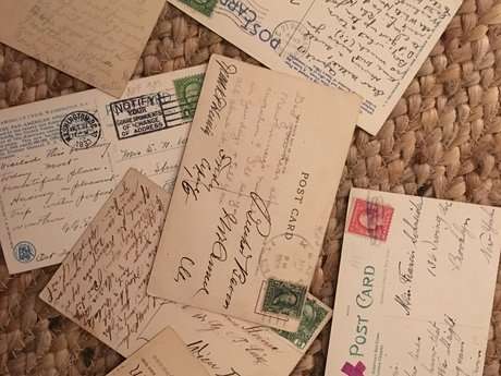I'll send a vintage postcard!