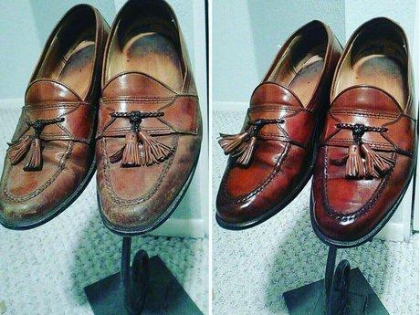 Professional luxury shoe shine