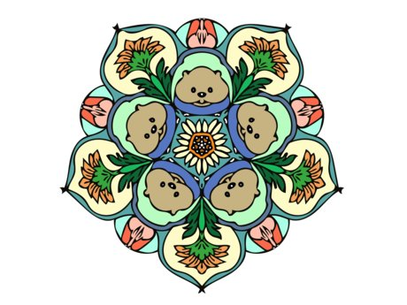 Your Cute Pet in a Mandala