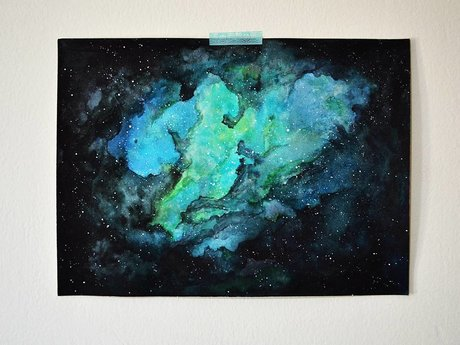 Nebula, watercolor (14x10 print)