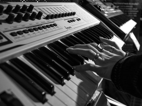 Sing and/or play piano on your demo