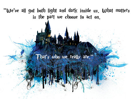Hogwarts Watercolor WallArt