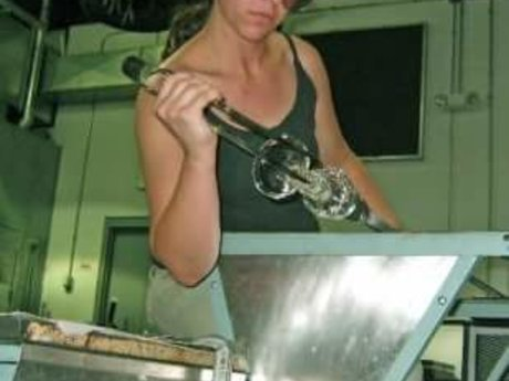 Glass blowing instruction