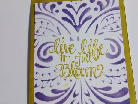 Live Life in Full Bloom Card