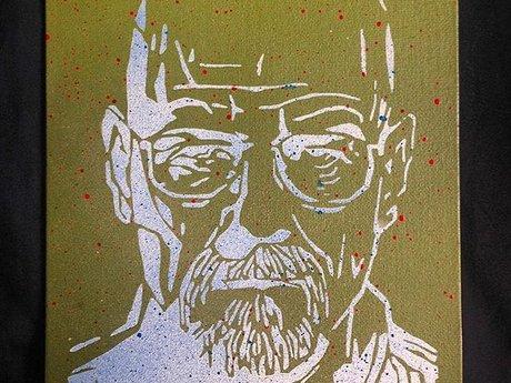 """""""Walter White"""" Spraypaint 8'x12'"""