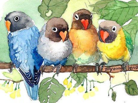Random watercolor art
