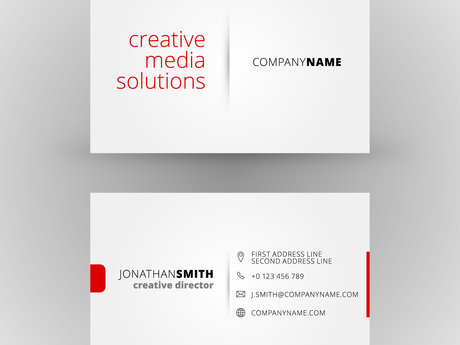 1 or 2-sided business card design