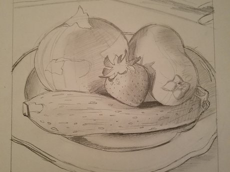 """The Produce Man"", pencil"