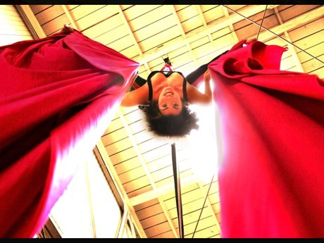 60 minute aerial silk lesson