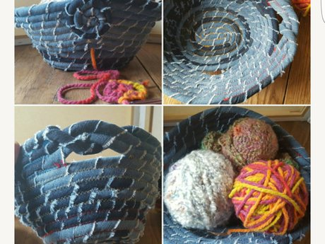 Upcycled fabric sewing project tuto
