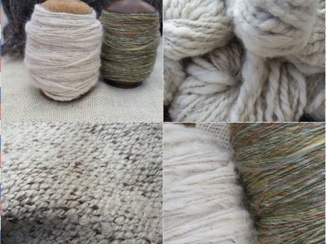 Handspun dog and other hair yarns