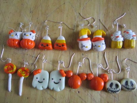 Custom Kawaii Clay Earrings & Charm