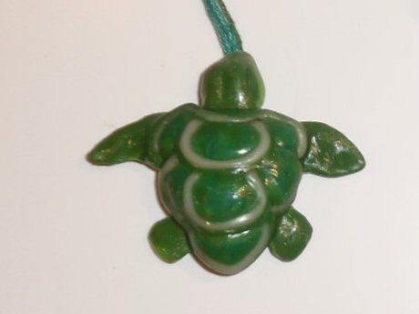 Polymer Clay Turtle Pendant