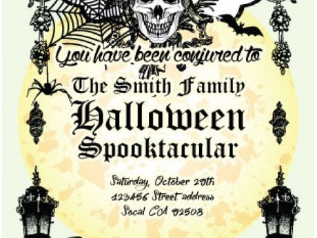Halloween premade Invitation design