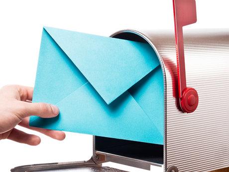 Sending cheery e-mails