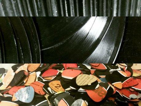 Vinyl record necklace charm