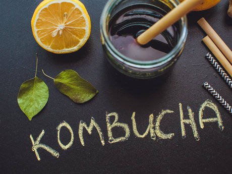 Home-brewed kombucha