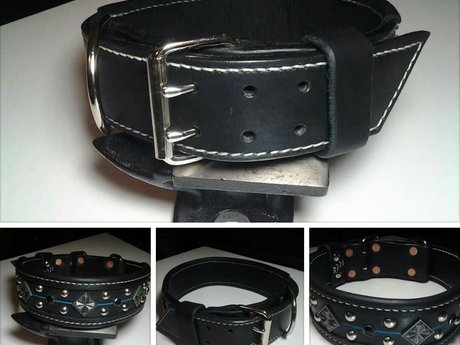 Dog collar design, prep and assembl
