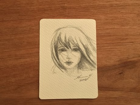 Original ACEO in Graphite
