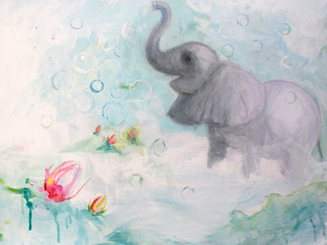 Elephant Painting or Mural
