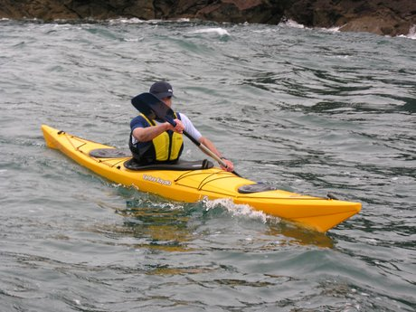 Kayaking adventure in open water