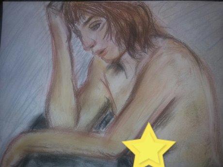 "Figure drawing print 8.5""× 11"""