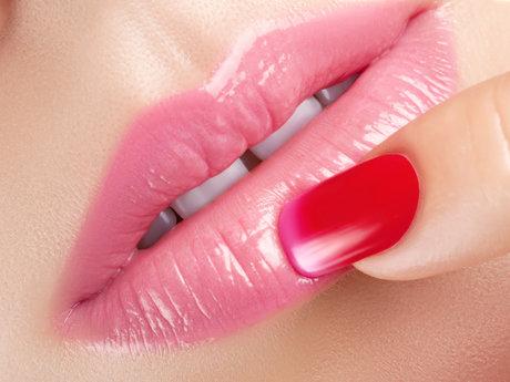 Acrylic Lips Painting