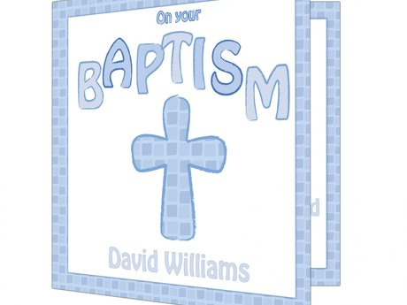 Digital baptismal invite design