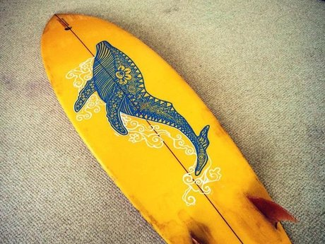 Custom surfboard art