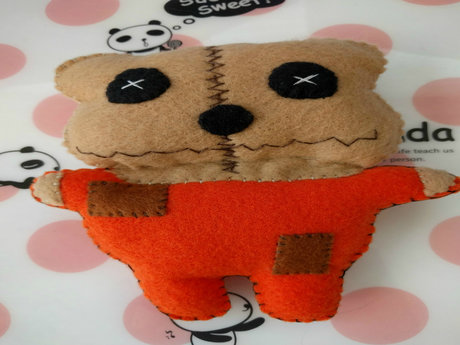 Pumpkin Head Bear Felt Plush