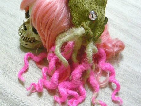 Pink and Blonde Octopus