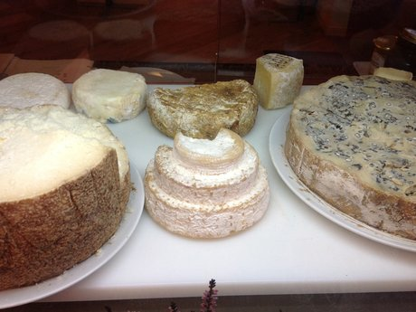 Italian Cheese magnet postcard