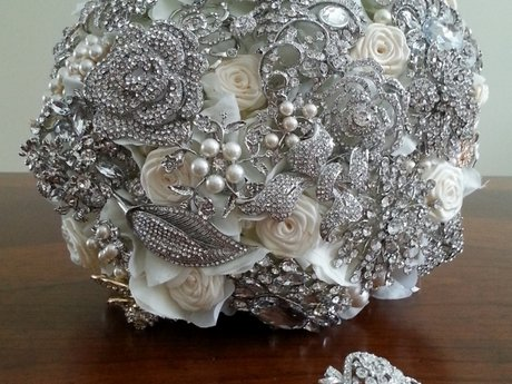 Custom Brooch Bouquet, Bridal Bling