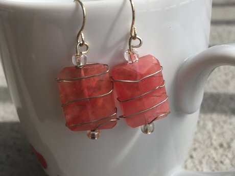Pink Lantern Earrings