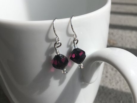 Cranberry Grape Elegance earrings