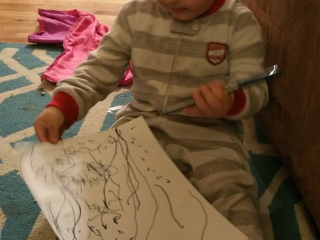 Drawings by a 2 Year Old