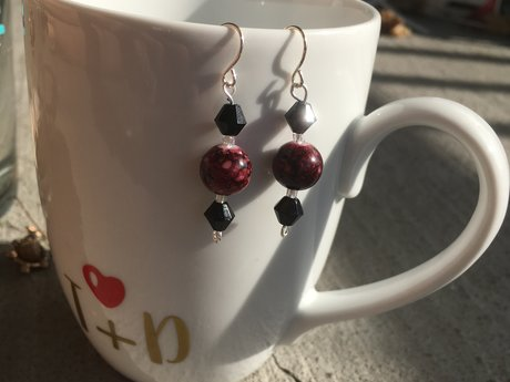 Cranberry Love Earrings