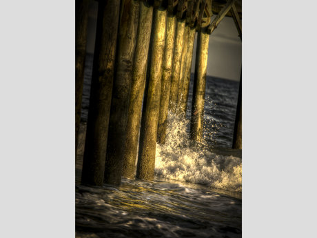Sunset Pier Waves (Digital)