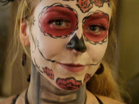 Face/body painting for costume