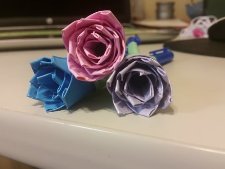 Pastel Duct Tape Rose Pens