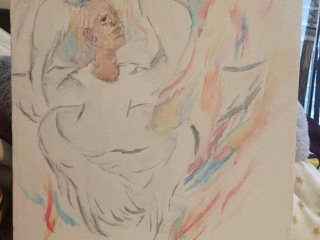 bible-realistic angel painting
