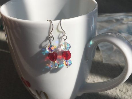 Red Christmas Earrings