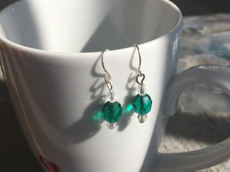 Green drop orniment Earrings